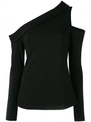 Блузка на одно плечо с длинными рукавами Robert Rodriguez. Цвет: чёрный