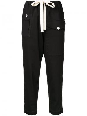 Укороченные брюки Bassike. Цвет: чёрный