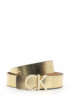 Ремень Calvin Klein Jeans. Цвет: золотой