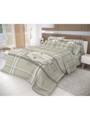 Комплект постельного белья Волшебная ночь ЕВРО, 50*70, Royal Suite. Цвет: серый, белый, черный