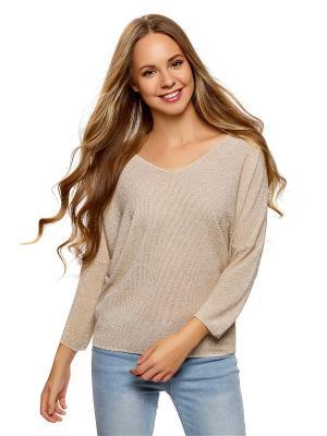 Пуловер Oodji. Цвет: молочный