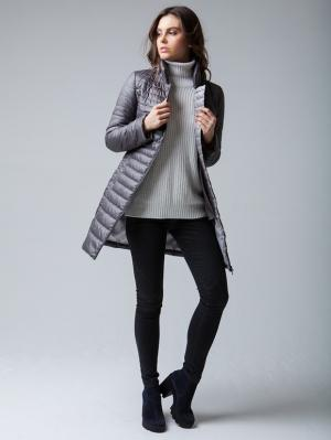 Пальто Clasna. Цвет: серый