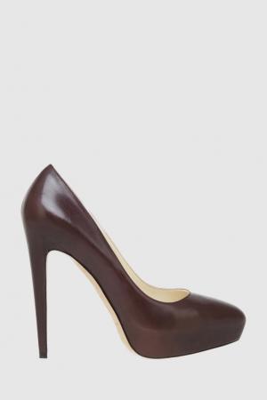 Кожаные туфли Brian Atwood. Цвет: коричневый