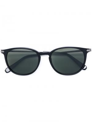 Солнцезащитные очки с круглой оправой Brioni. Цвет: чёрный