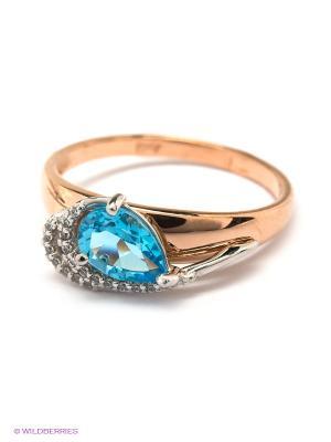 Кольцо SOKOLOV. Цвет: голубой