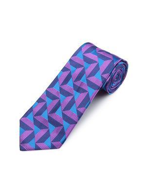 Галстук Clein Triangle Stripe Duchamp. Цвет: темно-синий, лазурный, сиреневый