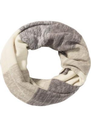 Полосатый шарф-снуд (светло-оливковый/бежевый/серый/светло-желтый) bonprix. Цвет: светло-оливковый/бежевый/серый/светло-желтый