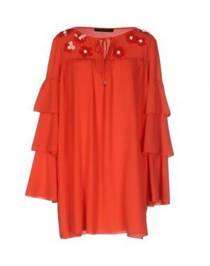 Блузка TENAX. Цвет: красный