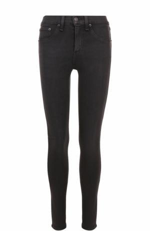 Однотонные джинсы-скинни Rag&Bone. Цвет: черный