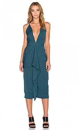 Платье reid Maurie & Eve. Цвет: сине-зеленый