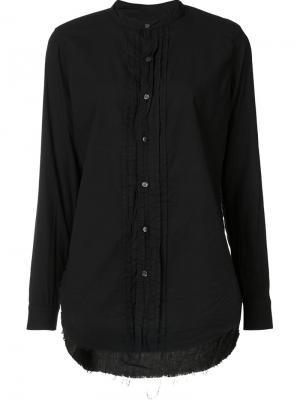 Рубашка с неравномерным подолом NSF. Цвет: чёрный