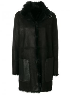 Двусторонняя куртка из меха ягненка Belstaff. Цвет: чёрный