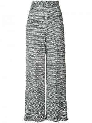 Cropped flared trousers Roland Mouret. Цвет: серый