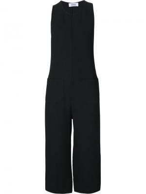 Cropped sleeveless jumpsuit Nomia. Цвет: чёрный