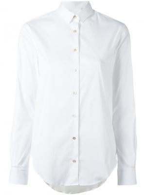 Рубашка с принтом сзади Xacus. Цвет: белый