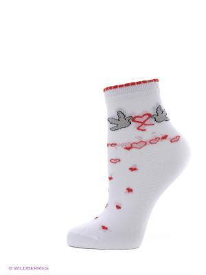 Носки, 2 пары Cascatto. Цвет: белый