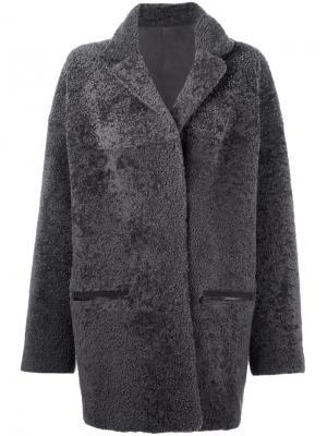 Пальто из овчины Atlantide 32 Paradis Sprung Frères. Цвет: серый