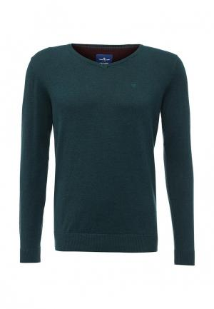Пуловер Tom Tailor. Цвет: бирюзовый