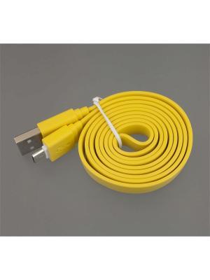 Usb кабель Pro Legend плоский micro Usb, 1м. Цвет: желтый