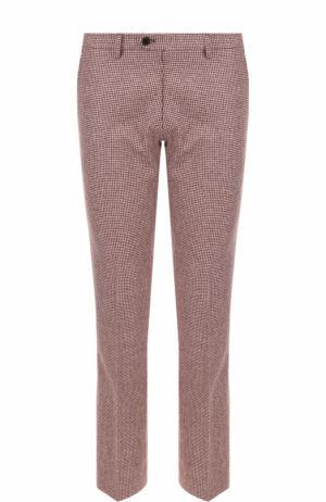 Шерстяные брюки прямого кроя Berwich. Цвет: бордовый