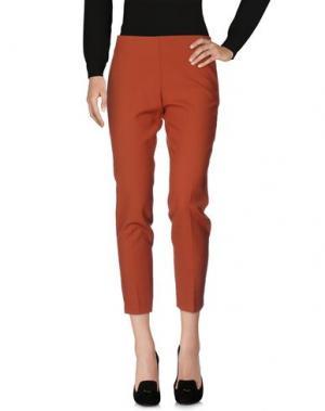 Повседневные брюки MALÌPARMI. Цвет: ржаво-коричневый
