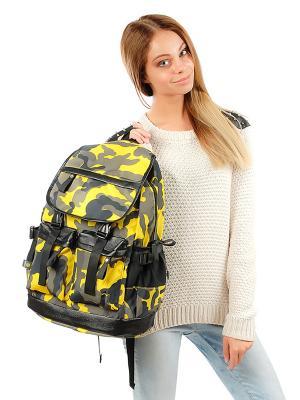 Рюкзак GREZZO. Цвет: желтый