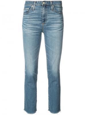 Укороченные джинсы скинни Ag Jeans. Цвет: синий