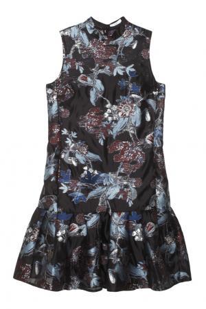 Платье с принтом Nena Erdem. Цвет: голубой, черный