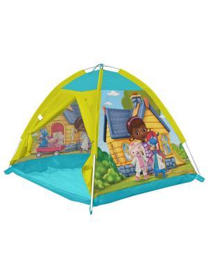 Палатка 112*112*84 Доктор Плюшева FRESH-TREND. Цвет: желтый, голубой