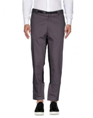 Повседневные брюки YES LONDON. Цвет: свинцово-серый