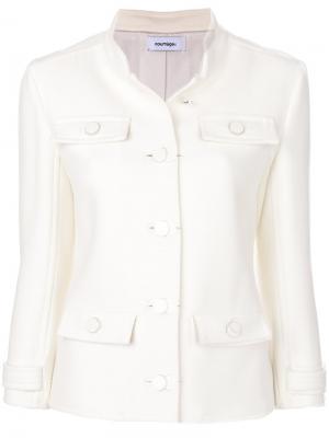 Приталенный пиджак на пуговицах Courrèges. Цвет: белый