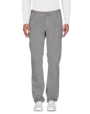 Джинсовые брюки JECKERSON. Цвет: светло-серый