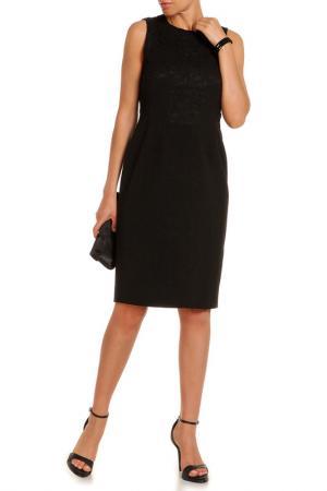 Прилегающее платье с кружевом N°21. Цвет: черный