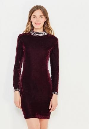 Платье Soky & Soka. Цвет: бордовый