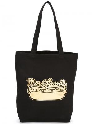 Сумка-тоут с принтом Hot Dog Marc Jacobs. Цвет: чёрный