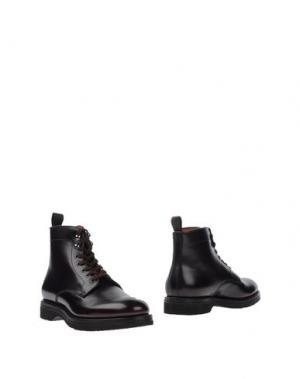 Полусапоги и высокие ботинки SANTONI. Цвет: баклажанный