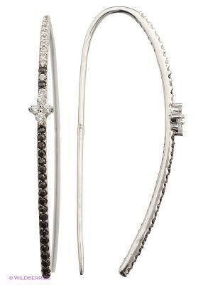 Серьги FRESH Jewelry. Цвет: серебристый