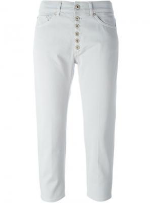 Укороченные брюки Dondup. Цвет: серый