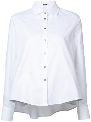 Блузка с вырезным дизайном и сборкой на спине Jourden. Цвет: белый