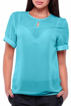 Блуза Dioni. Цвет: голубой