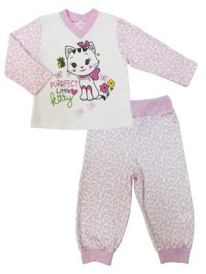 Пижама Маленькая Леди Soni kids. Цвет: белый, розовый