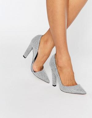 Paper Dolls Монохромные туфли-лодочки с эффектом кожи ската Nissa DOr. Цвет: серебряный