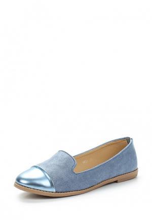 Лоферы Coura. Цвет: голубой