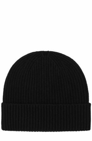 Кашемировая шапка с отворотом malo. Цвет: черный