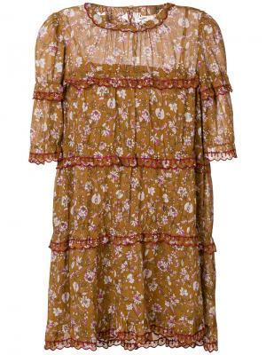 Платье  с цветочным принтом Isabel Marant Étoile. Цвет: коричневый