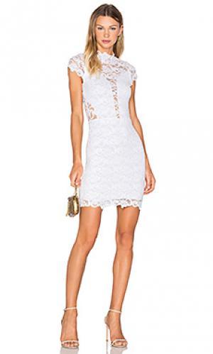 Мини платье lace 16th district Nightcap. Цвет: белый