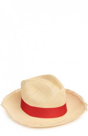 Шляпа пляжная Artesano. Цвет: красный