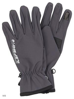 Перчатки Icepeak. Цвет: серый