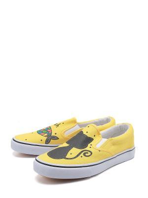 Кеды TF. Цвет: желтый