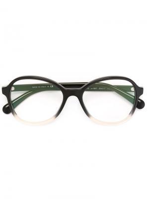 Очки с круглой оправой Chanel Eyewear. Цвет: чёрный